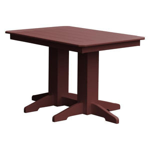 A & L Furniture Recycled Plastic Rectangular Dining Table Dining Table 4ft / Cherrywood / No
