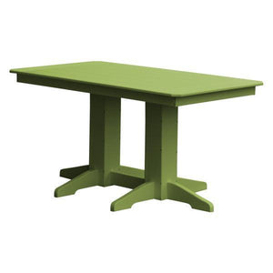 A & L Furniture Recycled Plastic Rectangular Dining Table Dining Table 5ft / Tropical Lime / No