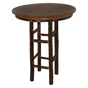 "A & L Furniture Round Hickory Bar Table Table 33"" / Walnut"