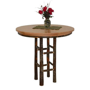 "A & L Furniture Round Hickory Bar Table Table 42"" / Natural"