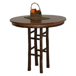 "A & L Furniture Round Hickory Bar Table Table 42"" / Walnut"