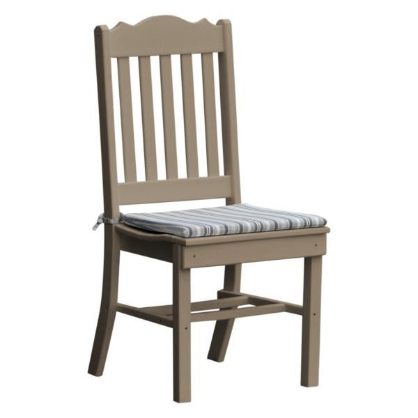 A & L Furniture Royal Dining Chair Outdoor Chairs Weathered Wood