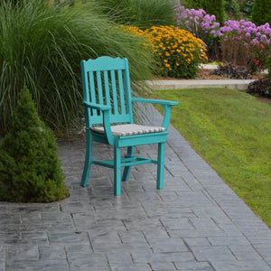 A & L Furniture Royal Dining Chair w/ Arms Outdoor Chairs Aruba Blue