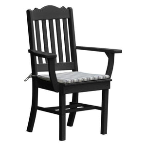 A & L Furniture Royal Dining Chair w/ Arms Outdoor Chairs Black