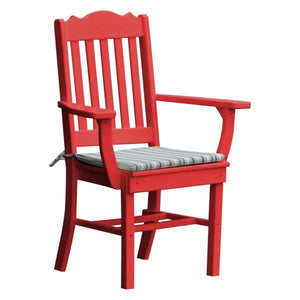 A & L Furniture Royal Dining Chair w/ Arms Outdoor Chairs Bright Red