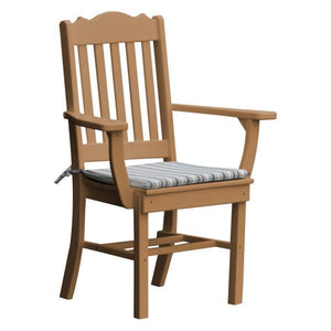 A & L Furniture Royal Dining Chair w/ Arms Outdoor Chairs Cedar