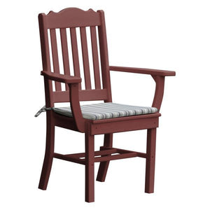 A & L Furniture Royal Dining Chair w/ Arms Outdoor Chairs Cherrywood