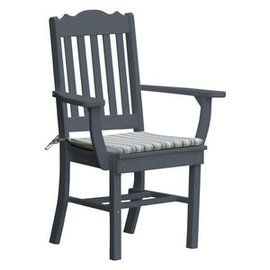 A & L Furniture Royal Dining Chair w/ Arms Outdoor Chairs Dark Gray