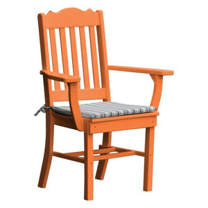 A & L Furniture Royal Dining Chair w/ Arms Outdoor Chairs Orange