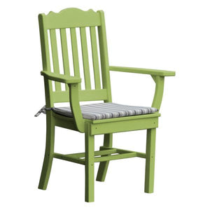 A & L Furniture Royal Dining Chair w/ Arms Outdoor Chairs Tropical Lime