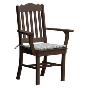 A & L Furniture Royal Dining Chair w/ Arms Outdoor Chairs Tudor Brown
