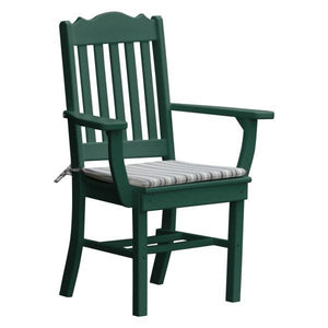 A & L Furniture Royal Dining Chair w/ Arms Outdoor Chairs Turf Green