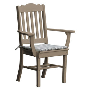 A & L Furniture Royal Dining Chair w/ Arms Outdoor Chairs Weathered Wood