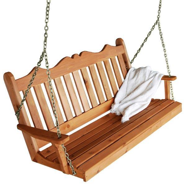 A & L Furniture Royal English Swing Porch Swings 4ft / No / Unfinished