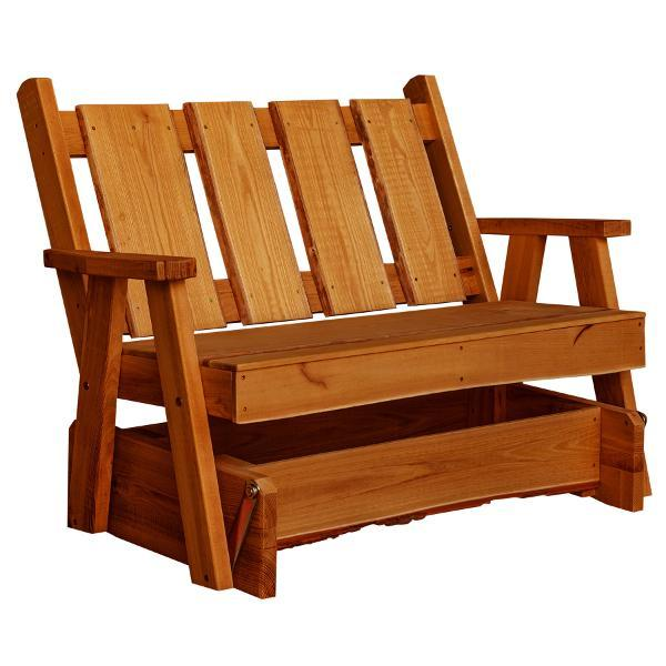A & L Furniture Timberland Glider Bench Glider Chair 4ft / Cedar