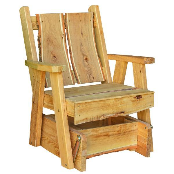 A & L Furniture Timberland Glider Chair Glider Chair Natural