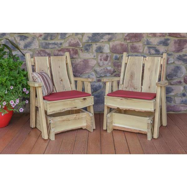 A & L Furniture Timberland Glider Chair Glider Chair Unfinished