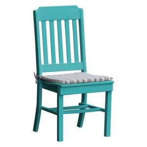 A & L Furniture Traditional Dining Chair Outdoor Chairs Aruba Blue