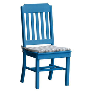 A & L Furniture Traditional Dining Chair Outdoor Chairs Blue