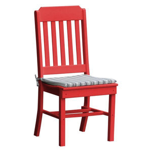 A & L Furniture Traditional Dining Chair Outdoor Chairs Bright Red