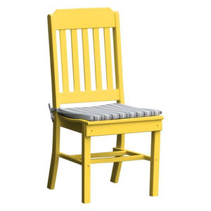 A & L Furniture Traditional Dining Chair Outdoor Chairs Lemon Yellow