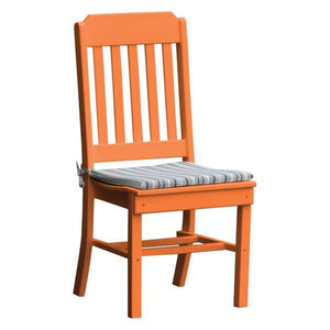 A & L Furniture Traditional Dining Chair Outdoor Chairs Orange