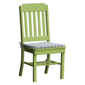 A & L Furniture Traditional Dining Chair Outdoor Chairs Tropical Lime
