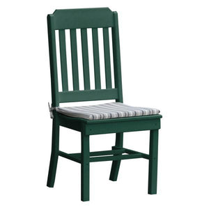 A & L Furniture Traditional Dining Chair Outdoor Chairs Turf Green