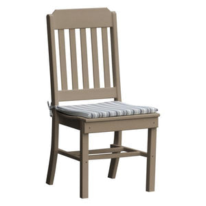 A & L Furniture Traditional Dining Chair Outdoor Chairs Weathered Wood