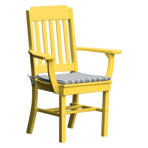 A & L Furniture Traditional Dining Chair w/ Arms Outdoor Chairs Aruba Blue
