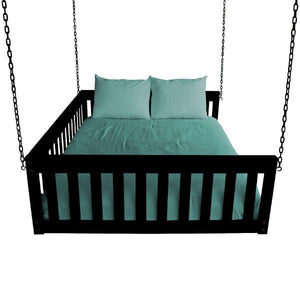 A & L Furniture VersaLoft Mission Hanging Daybed with Chain Daybed Full / Black