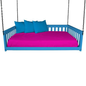 A & L Furniture VersaLoft Mission Hanging Daybed with Chain Daybed Full / Caribbean Blue