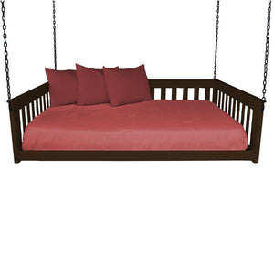 A & L Furniture VersaLoft Mission Hanging Daybed with Chain Daybed Full / Coffee