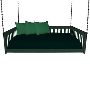 A & L Furniture VersaLoft Mission Hanging Daybed with Chain Daybed Full / Dark Green