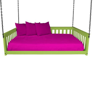 A & L Furniture VersaLoft Mission Hanging Daybed with Chain Daybed Full / Lime Green
