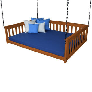 A & L Furniture VersaLoft Mission Hanging Daybed with Chain Daybed Full / Mike's Cherry