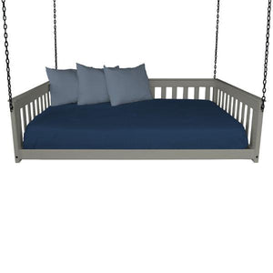 A & L Furniture VersaLoft Mission Hanging Daybed with Chain Daybed Full / Olive Gray