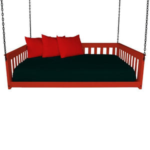 A & L Furniture VersaLoft Mission Hanging Daybed with Chain Daybed Full / Tractor Red
