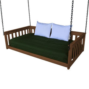 A & L Furniture VersaLoft Mission Hanging Daybed with Chain Daybed Twin / Asbury
