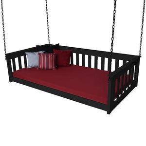 A & L Furniture VersaLoft Mission Hanging Daybed with Chain Daybed Twin / Black
