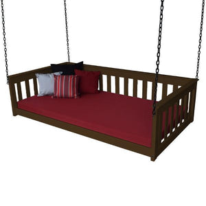 A & L Furniture VersaLoft Mission Hanging Daybed with Chain Daybed Twin / Coffee