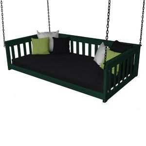 A & L Furniture VersaLoft Mission Hanging Daybed with Chain Daybed Twin / Dark Green