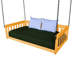 A & L Furniture VersaLoft Mission Hanging Daybed with Chain Daybed Twin / Honey