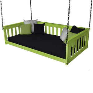 A & L Furniture VersaLoft Mission Hanging Daybed with Chain Daybed Twin / Lime Green