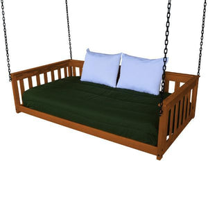 A & L Furniture VersaLoft Mission Hanging Daybed with Chain Daybed Twin / Mike's Cherry
