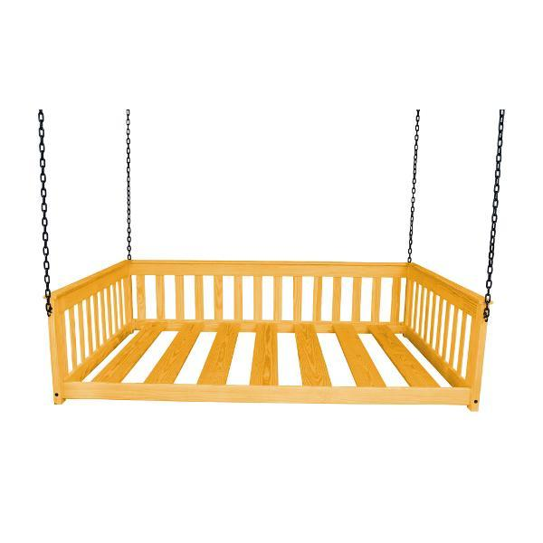 A & L Furniture VersaLoft Mission Hanging Daybed with Chain Daybed Honey