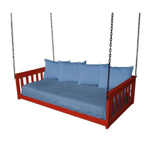 A & L Furniture VersaLoft Mission Hanging Daybed with Chain Daybed Twin / Unfinished