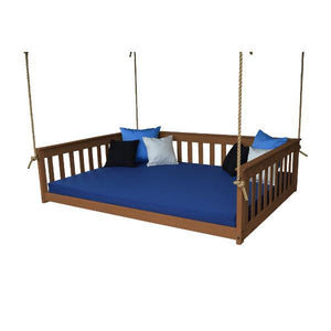 A & L Furniture VersaLoft Mission Hanging Daybed with Rope Daybed Full / Asbury