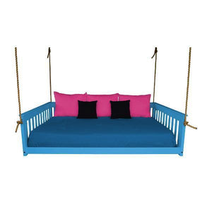 A & L Furniture VersaLoft Mission Hanging Daybed with Rope Daybed Full / Caribbean Blue