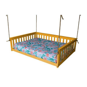 A & L Furniture VersaLoft Mission Hanging Daybed with Rope Daybed Full / Honey